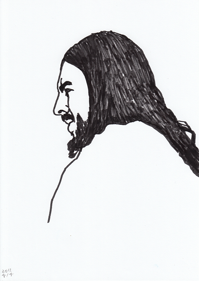 Drawing of George Harrison