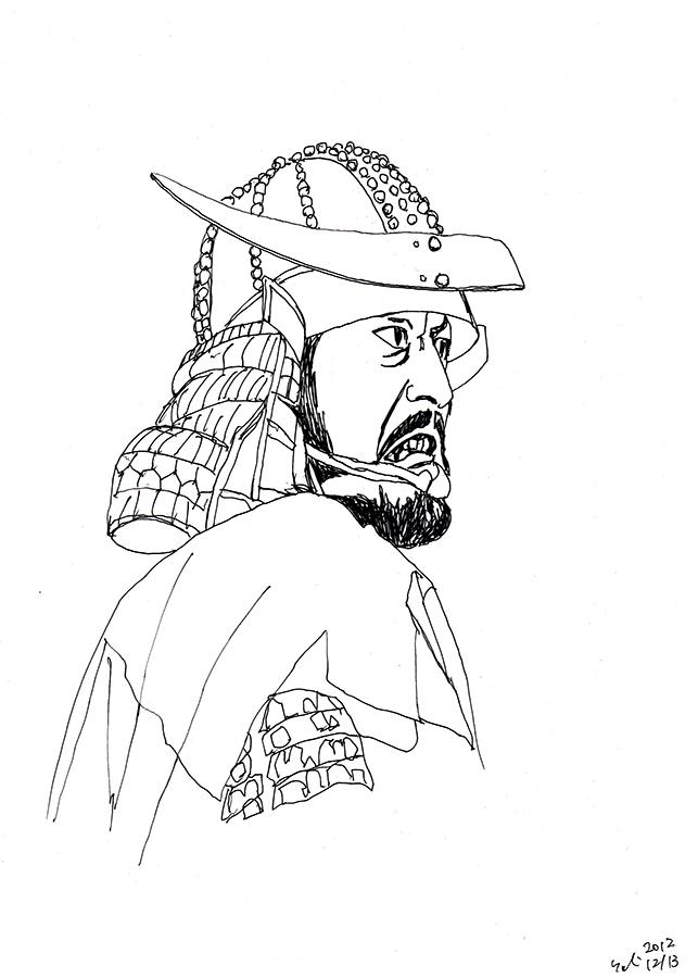 illustration of an actor from Akira Kurosawa film