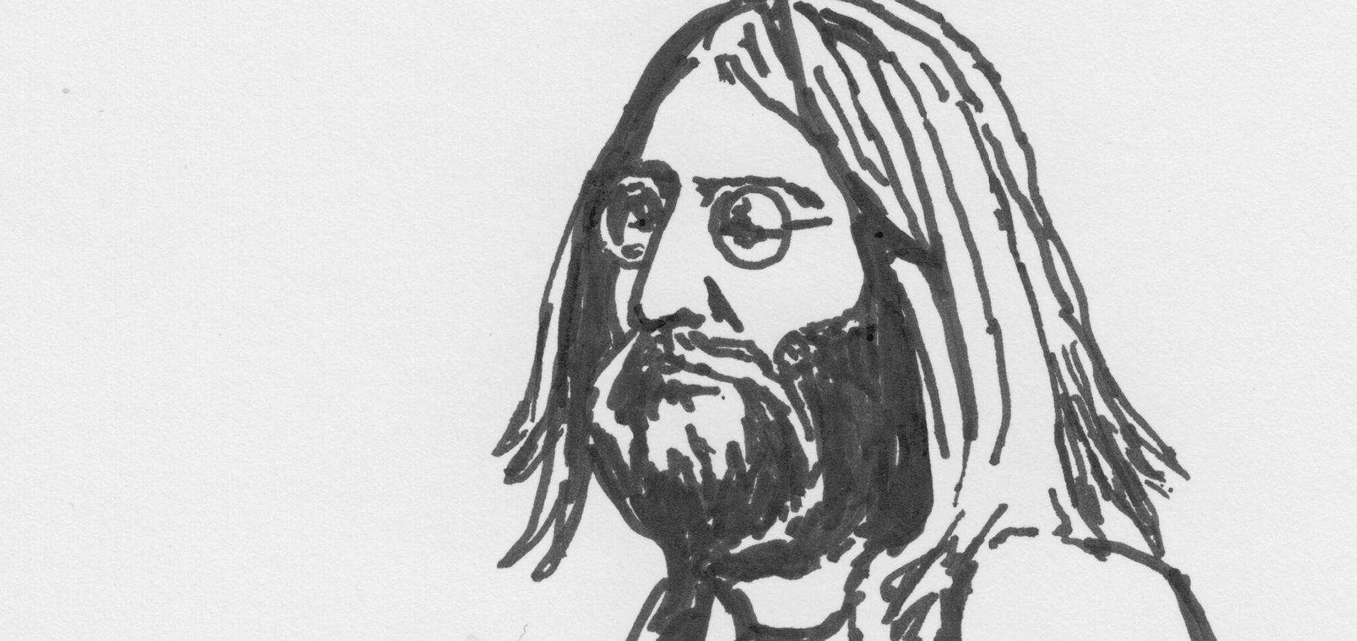 Drawing of John Lennon