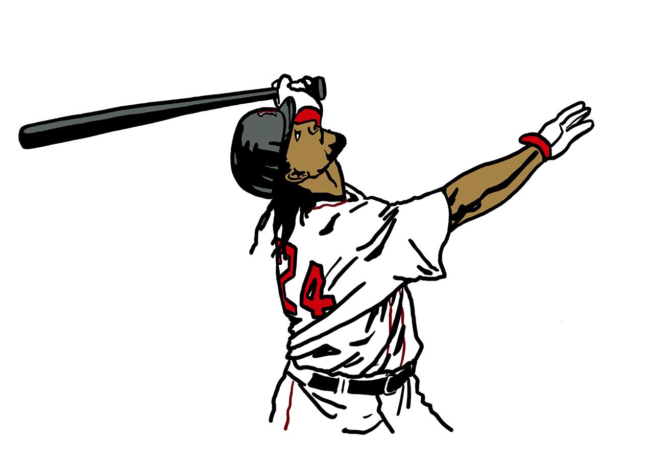 illustration of Boston Red Sox Manny Ramirez's swing