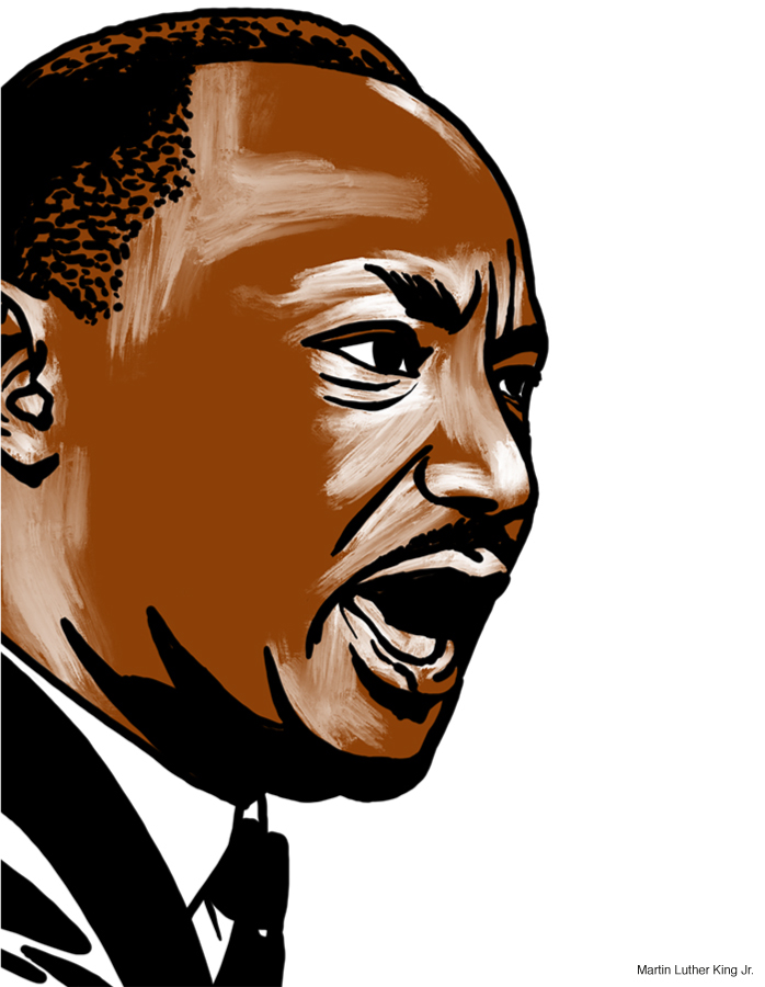 Drawing of Martin Luther King