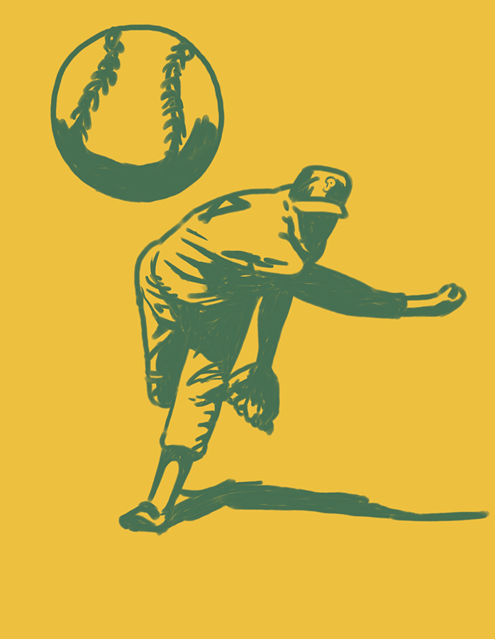 illustration of Pitcher Player throwing a ball