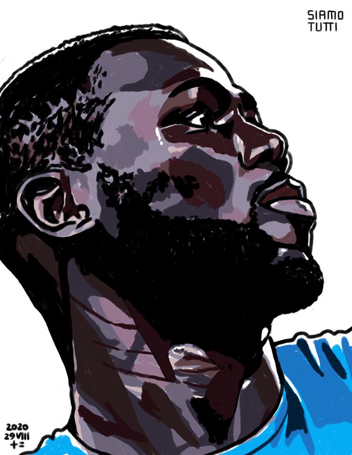 illustration of the profile of SSC Napoli defender Kalidou Koulibaly