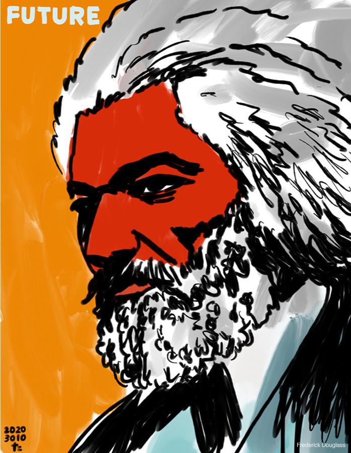 illustration of Frederick Douglass