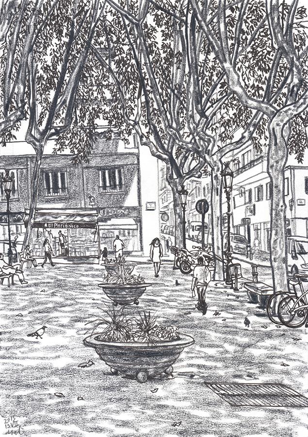 ilustración de Plaça de Rovira i Trias de Gràcia de Barcelona