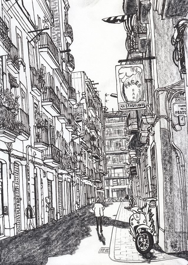 ilustración de Casa Pagès a Carrer de la Llibertat de Gràcia Barcelona