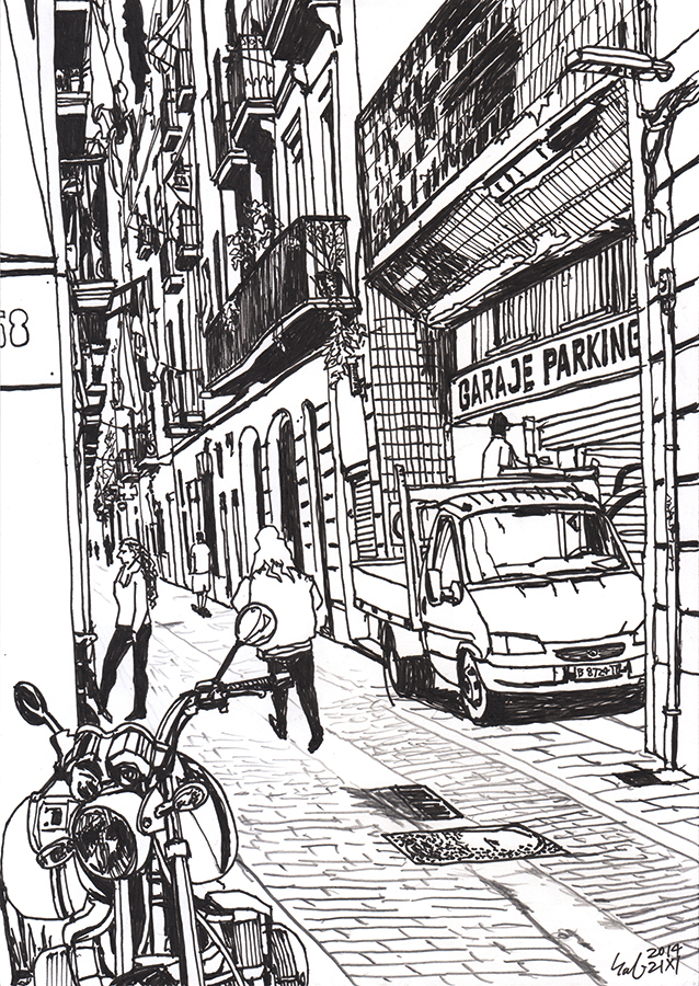 drawing of Parking of Carrer de les Carretes in BCN Raval