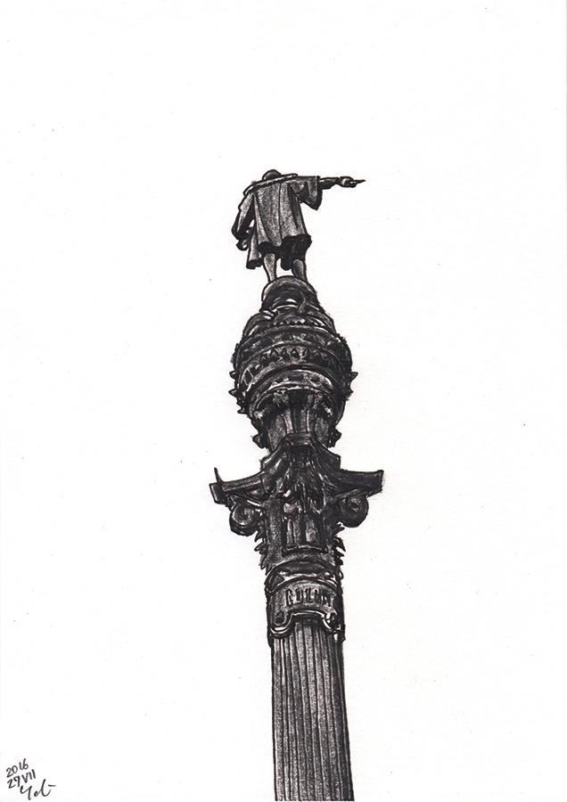 Ilustración de Estatua de Colón de Barcelona