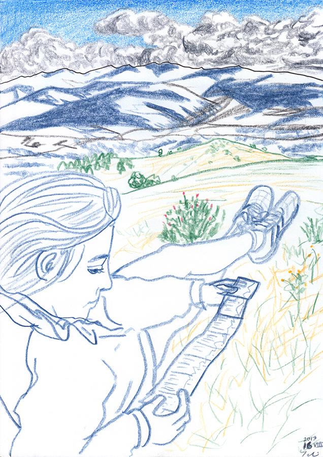 Dibuix de muntanya de Catalunya