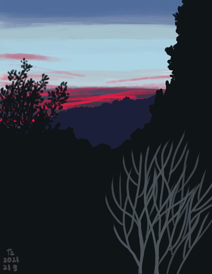 Il·lustració de la posta de sol