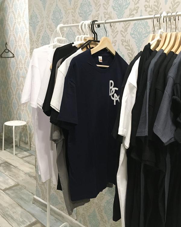 "BCN logo t-shirt by Asobōze in a shop in Born, Barcelona ""Ona Nova"""